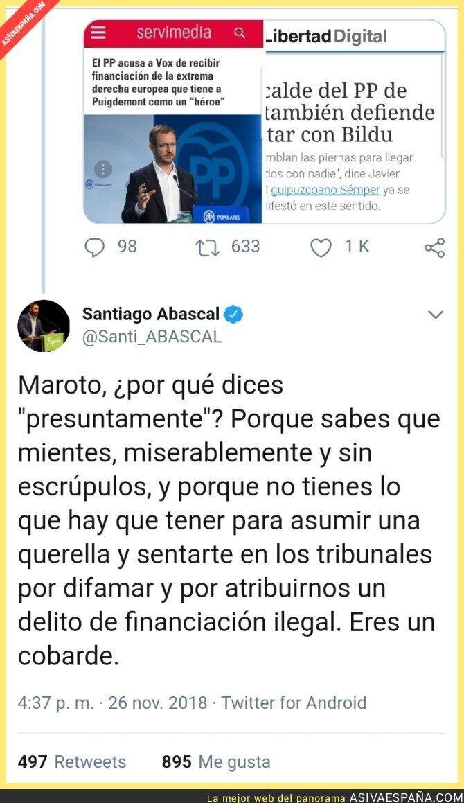 98876 - Santi Abascal contesta a las acusaciones de Javier Maroto