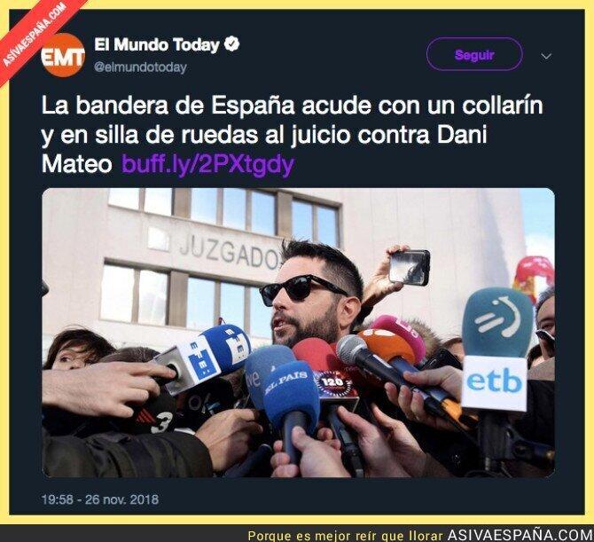 98892 - La bandera de España ha sido duramente ultrajada y ella tiene pruebas