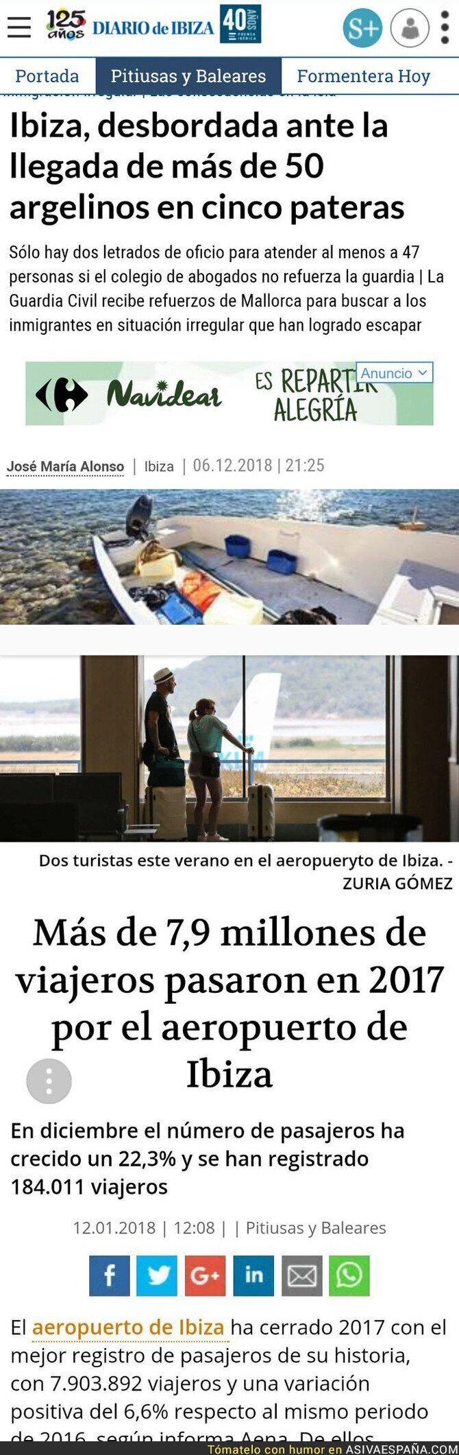 100107 - Los inmigrantes desbordan Ibiza pero millones de turistas no