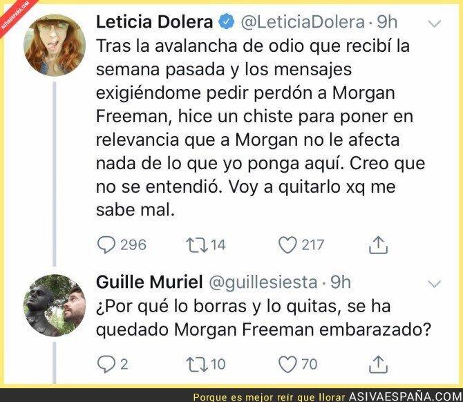 100206 - Leticia Dolera tomando de su propia medicina