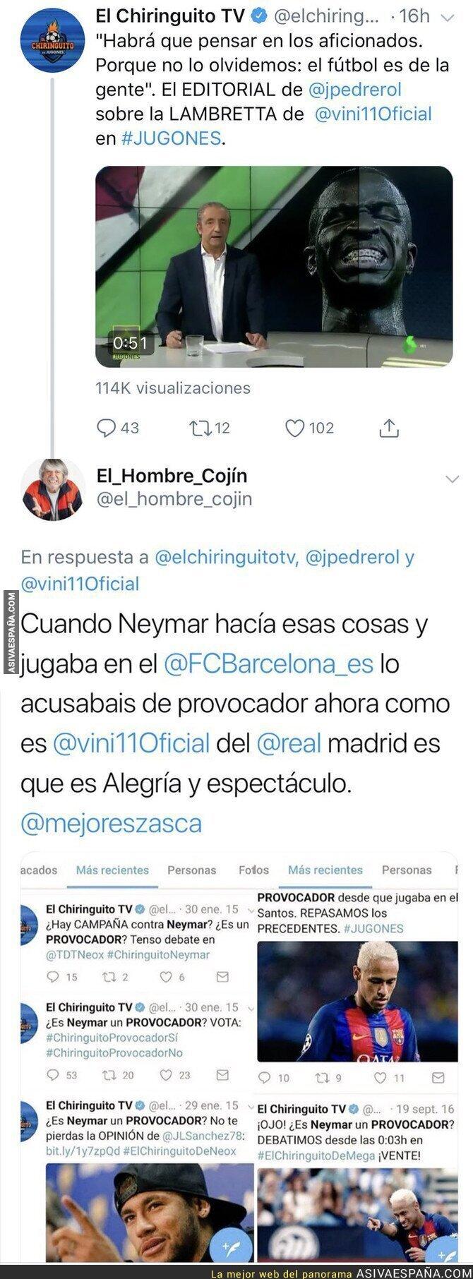100210 - Este es el nivel de periodismo de Pedrerol depende si habla de un jugador del Madrid o del Barça