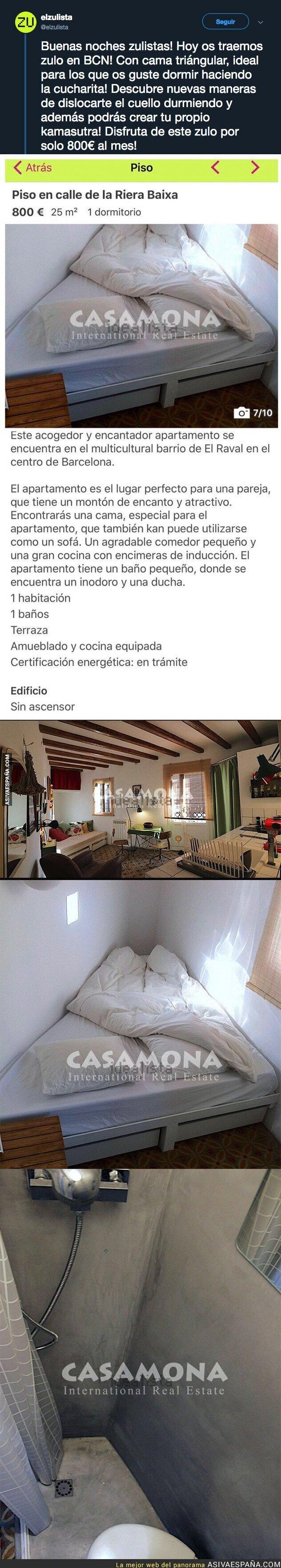 100348 - El denunciable precio por este piso pequeño en Barcelona con este detalle que está indignando a mucha gente