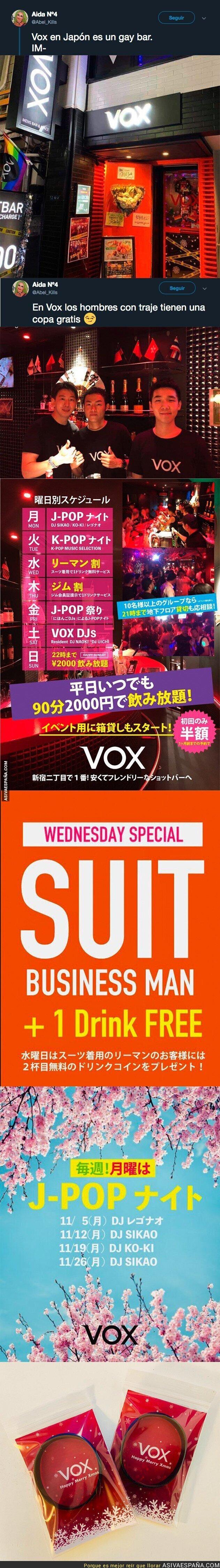 100415 - Descubren en Japón un local llamado VOX y es para gays