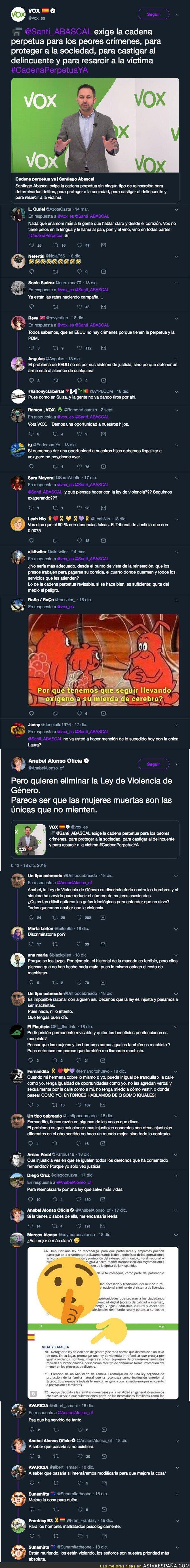 100817 - Anabel Alonso se enzarza con VOX y sus votantes por el tema de querer eliminar la ley de violencia de género