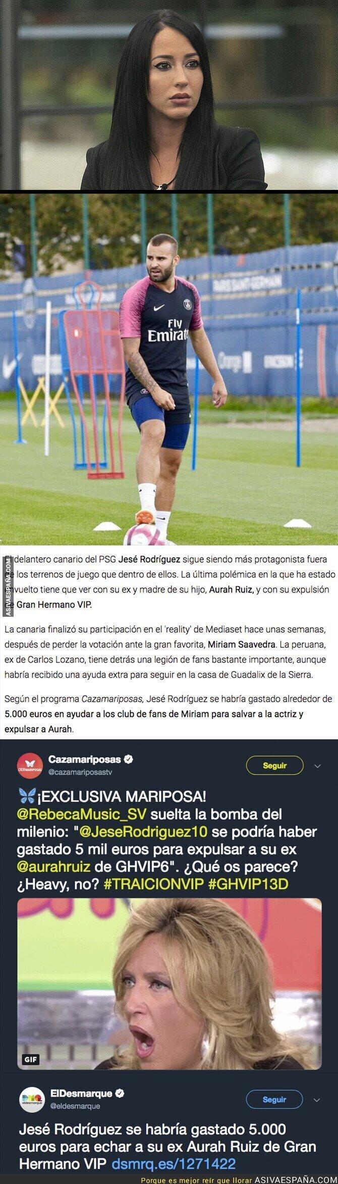 100835 - La brutal cantidad de dinero que se dejó Jesé Rodríguez para echar a Aurah de GH VIP