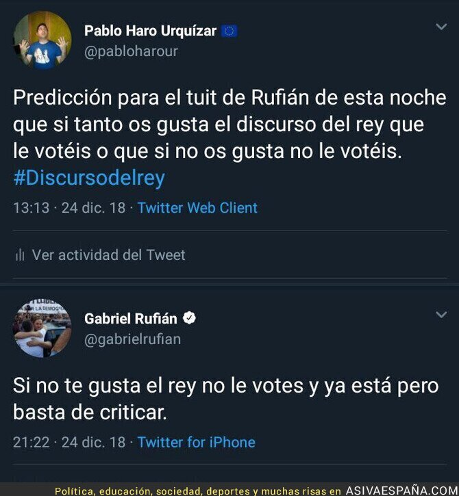 101217 - Gabriel Rufián es demasiado predecible