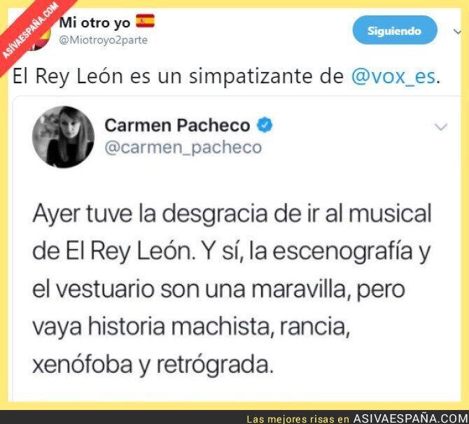 101242 - No vayáis al musical del Rey León, es fascismo