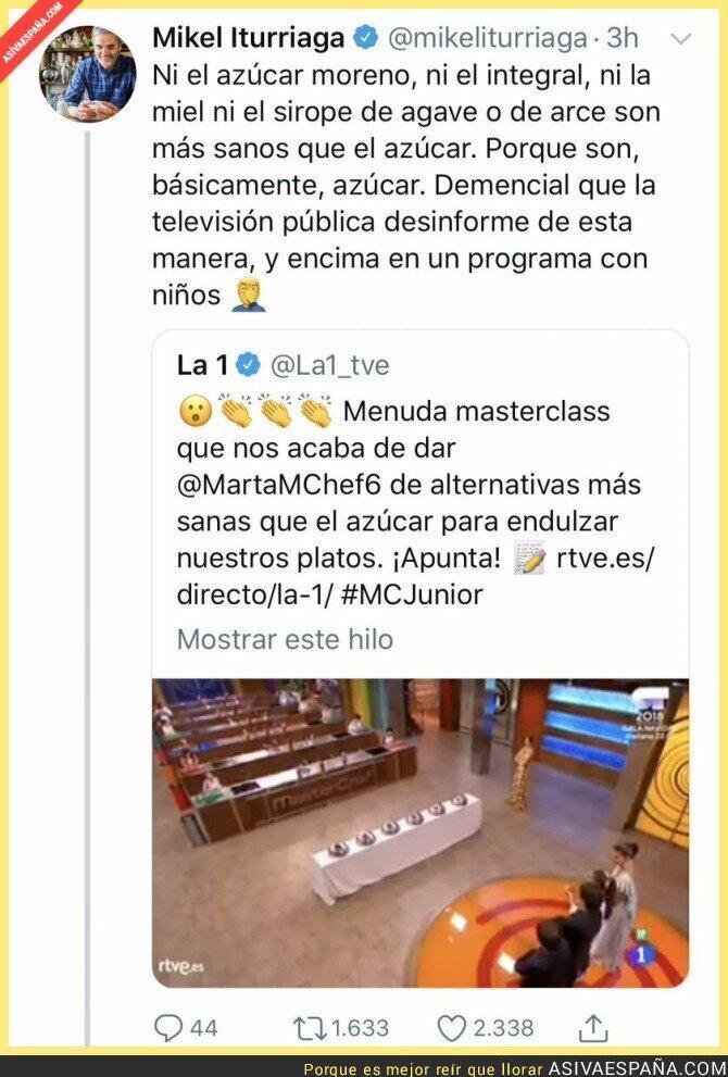101327 - La televisión pública desinformando acerca del azúcar en Masterchef