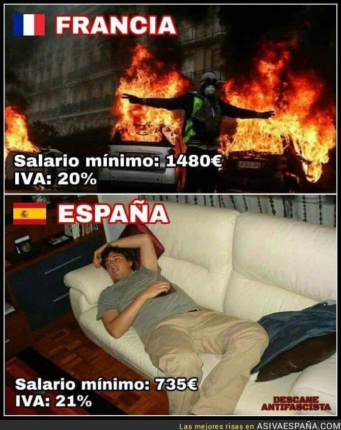 99394 - Diferencias claras entre España y Francia