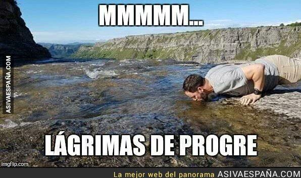 99406 - Santiago Abascal bebiendo ríos de lágrimas