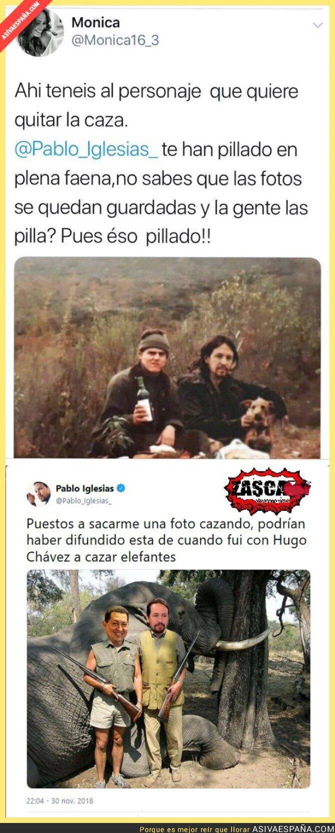 99568 - La gran respuesta de Pablo Iglesias al bulo de la foto en la que sale