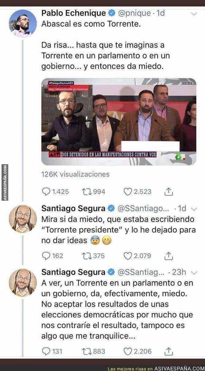 99849 - Zasca épico de Santiago Segura a Pablo Echenique