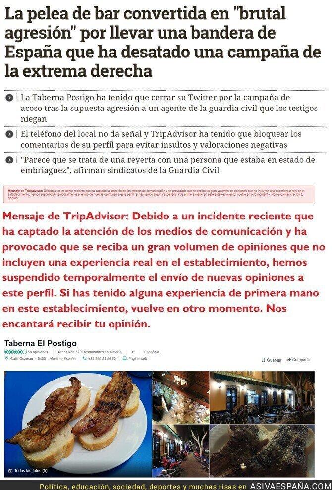 101588 - La derecha descerebrada a degüello contra la taberna El Postigo, en Almería, tras este incidente