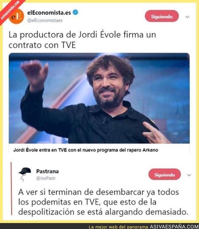 101730 - Jordi Évole trapichea con TVE, televisión extranjera para él