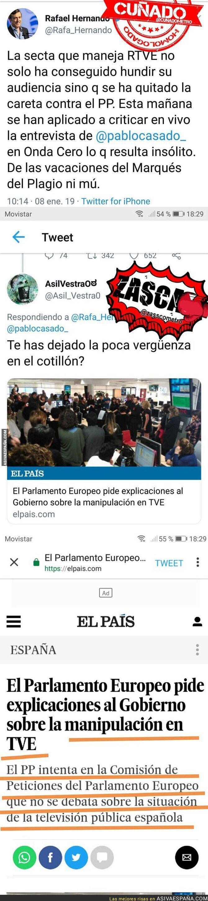 102122 - La desvergüenza de Rafael Hernando denunciando la situación en RTVE