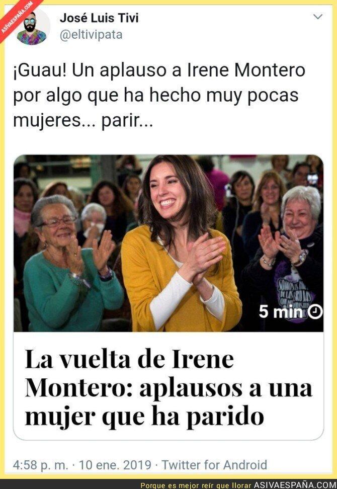 102200 - Irene Montero inventa la maternidad en la especie humana