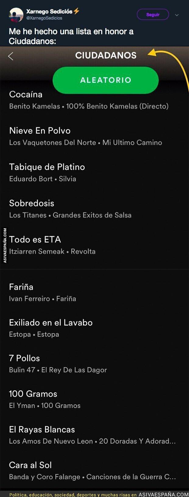102246 - La lista musical de Ciudadanos