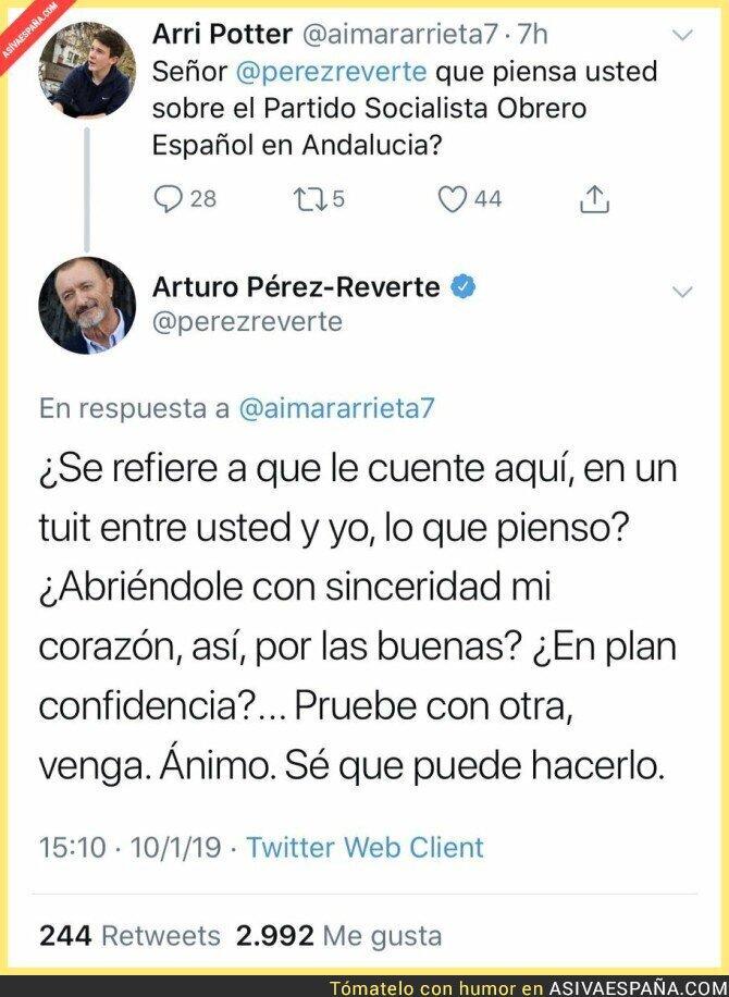 102261 - Arturo Pérez-Reverte no es alguien que hable así por así fácilmente