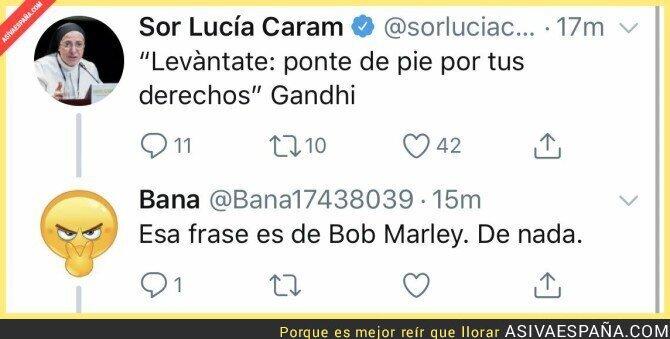 102281 - Las fuentes de Sor Lucia Caram no son fiables