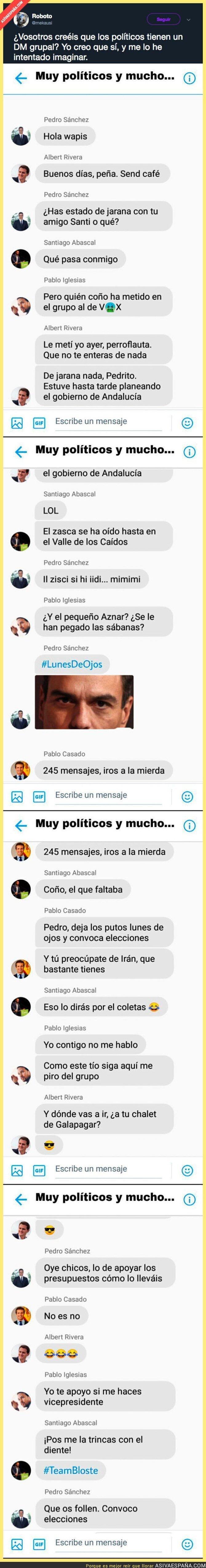 102718 - El chat de nuestros políticos sale a la luz