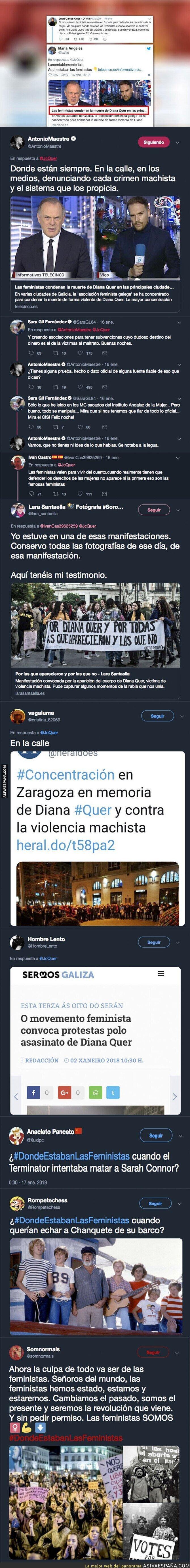 102835 - El padre de Diana Quer se pregunta donde estaban las feministas cuando mataron a su hija y Twitter responde