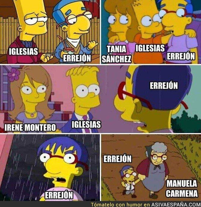 103050 - La historia de Íñigo Errejón explicada por Los Simpson