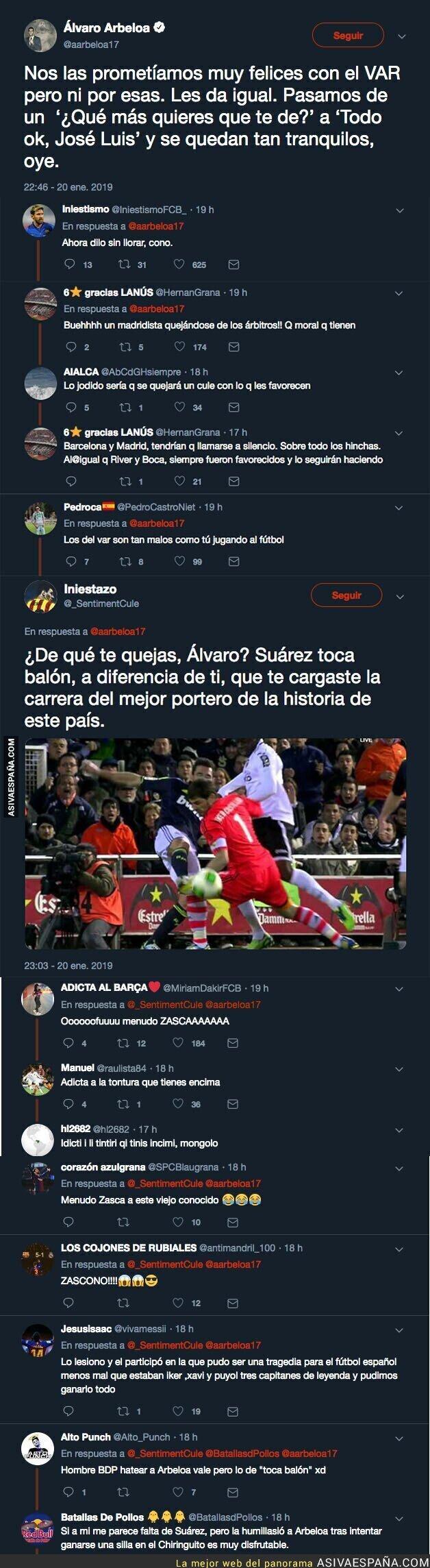 103063 - Arbeloa se queja del VAR tras un partido del Barça y un usuario de Twitter le responde de forma que le deja temblando