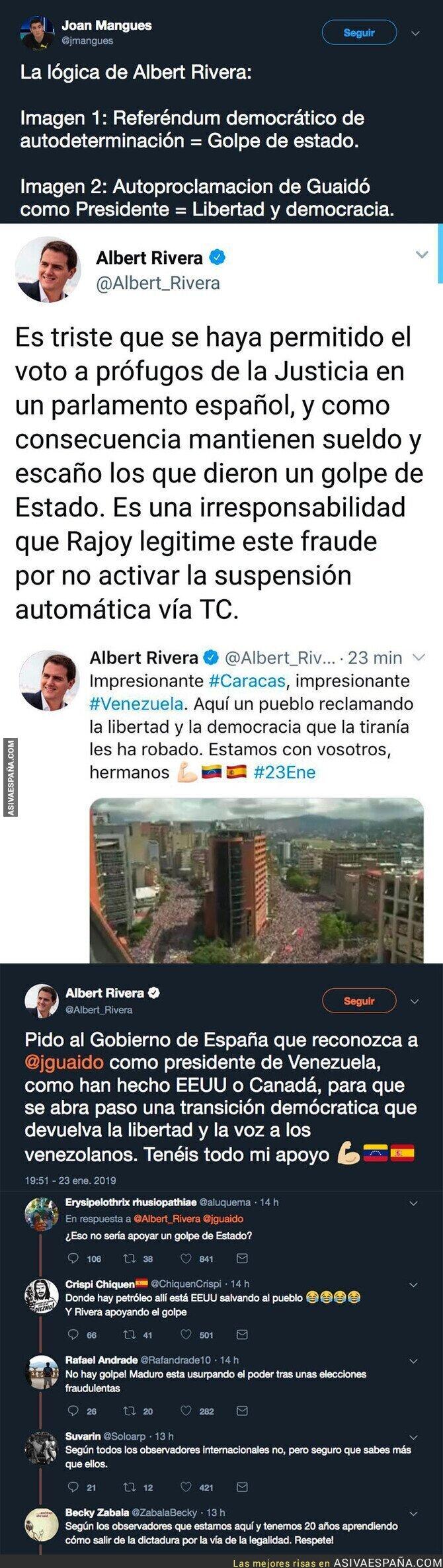 103237 - Albert Rivera apoyando un golpe de estado en Venezuela