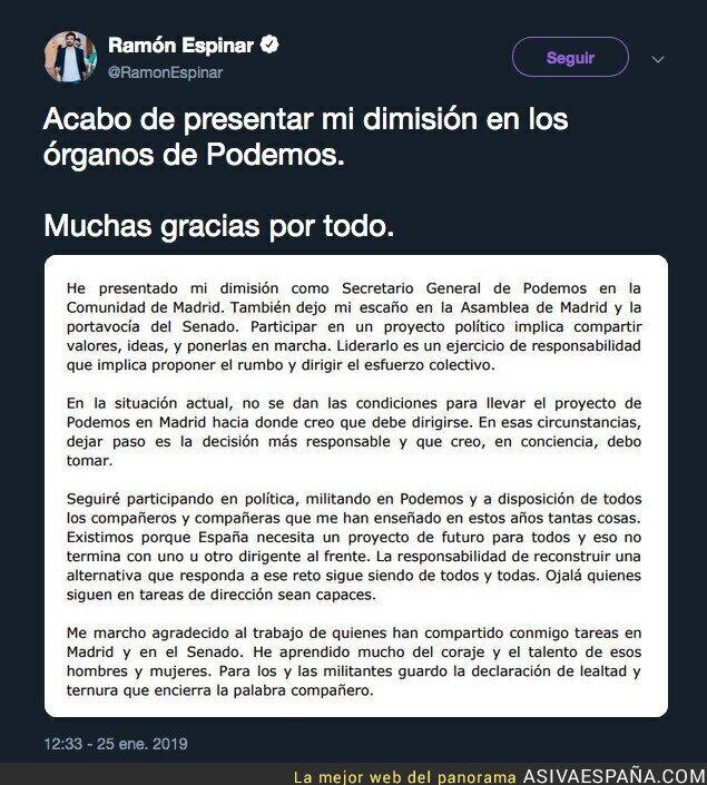103380 - Ramón Espinar se larga de Podemos