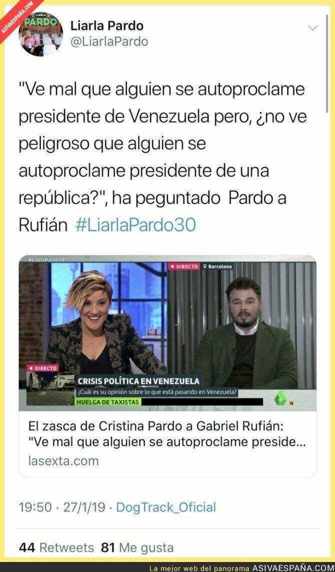 103530 - Cristina Pardo dándole en toda la boca a Gabriel Rufián por la República catalana