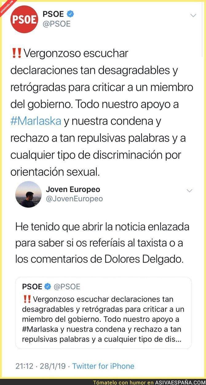 103657 - El PSOE indignado depende de donde vengan los insultos