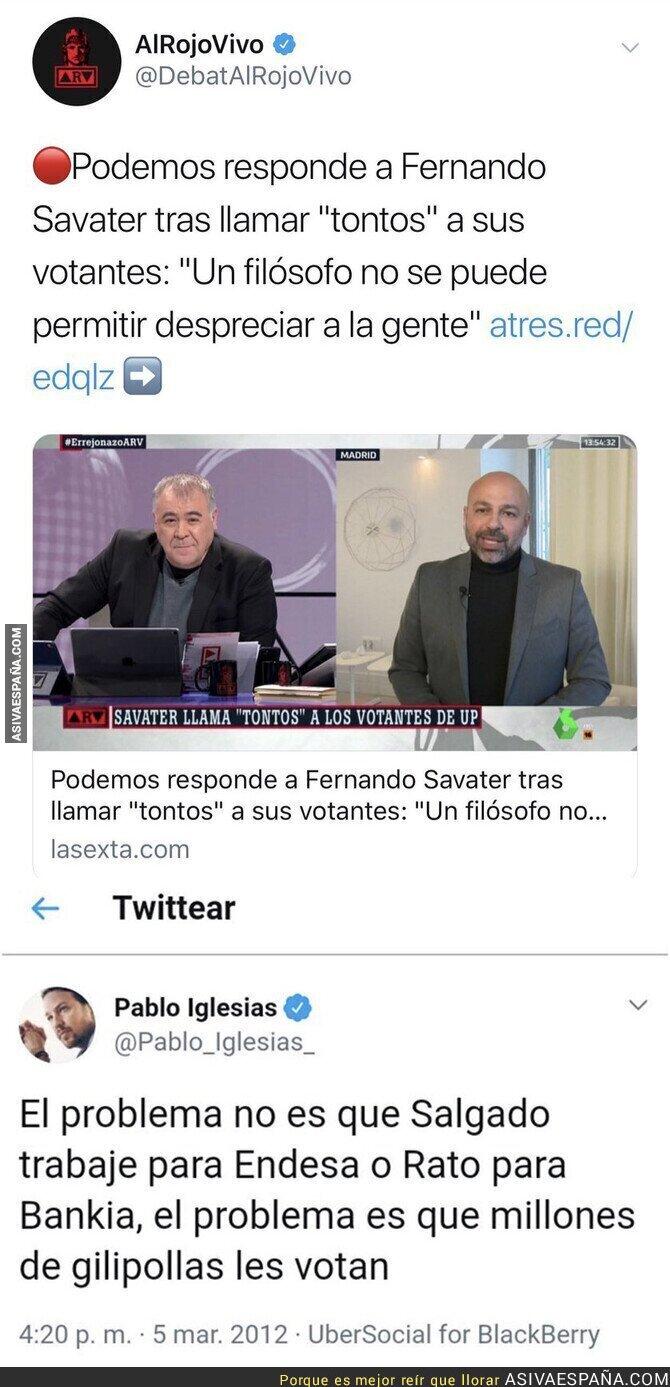 103721 - El doble rasero de Podemos a la hora de insultar a la gente