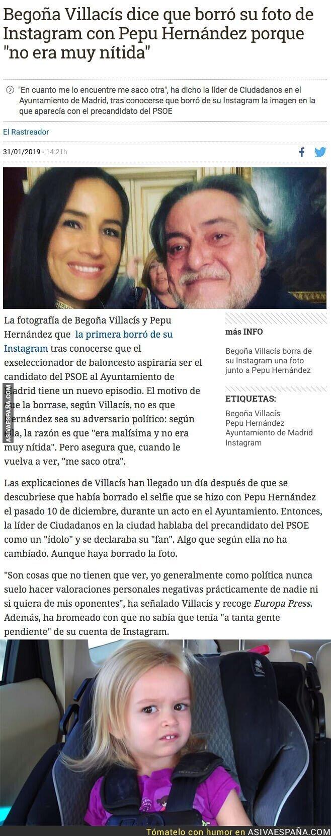 103811 - La lamentable excusa de Begoña Villacís tras borrar la foto que tenía en Instagram con Pepu Hernández