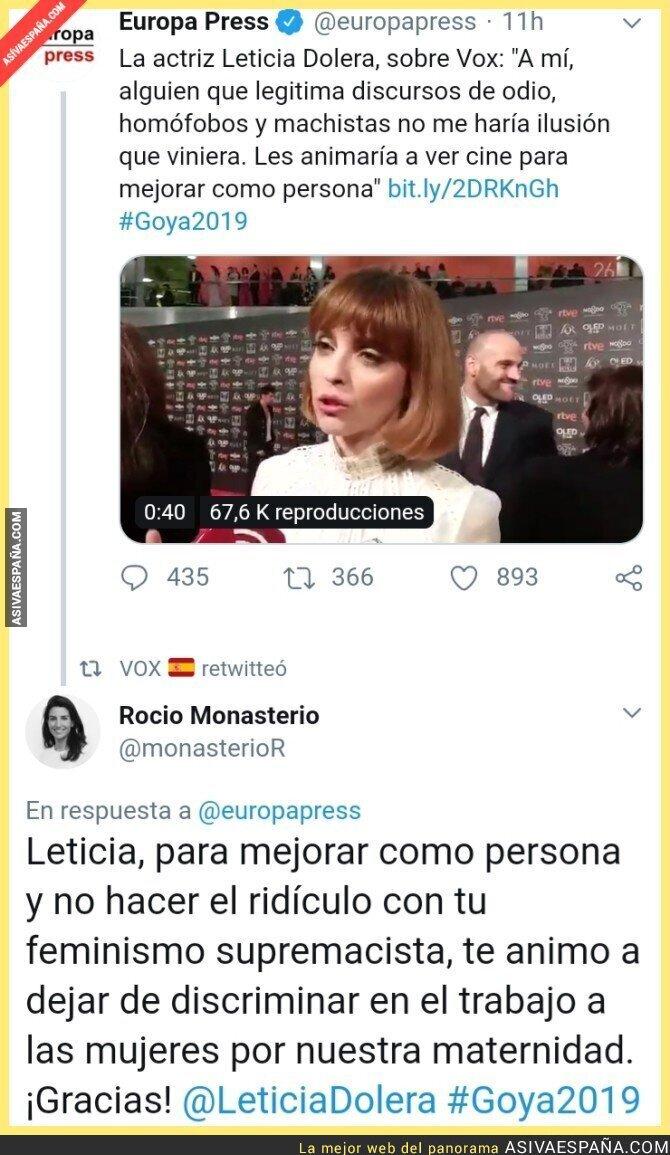 103865 - Zasca de Rocío Monasterio a la feminista Leticia Dolera