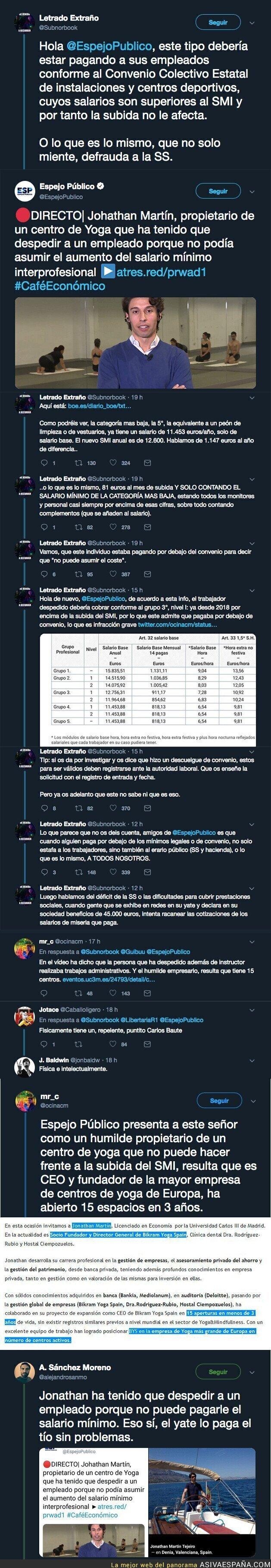 104118 - 'Espejo Público' entrevista a esta persona que dice no poder pagar el 'salario mínimo' de 900€ y Twitter descubre la gran mentira de Antena 3