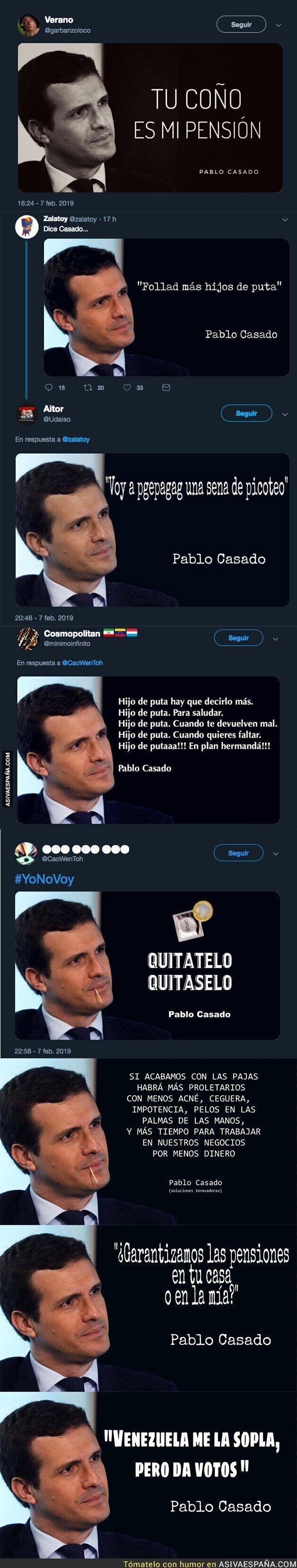 104251 - Internet se llena de citas falsas de Pablo Casado tras cargar contra la ley del aborto