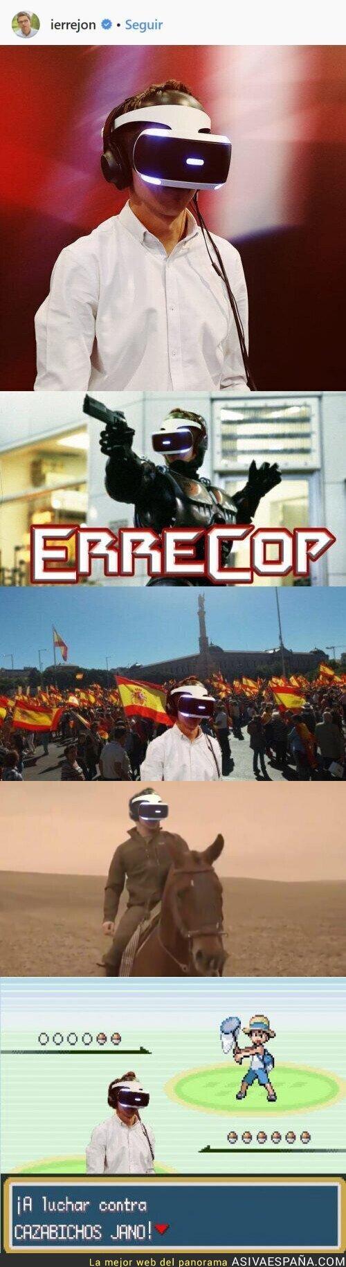 104455 - Íñigo Errejón sube una foto suya probando la realidad virtual e internet se llena de memes