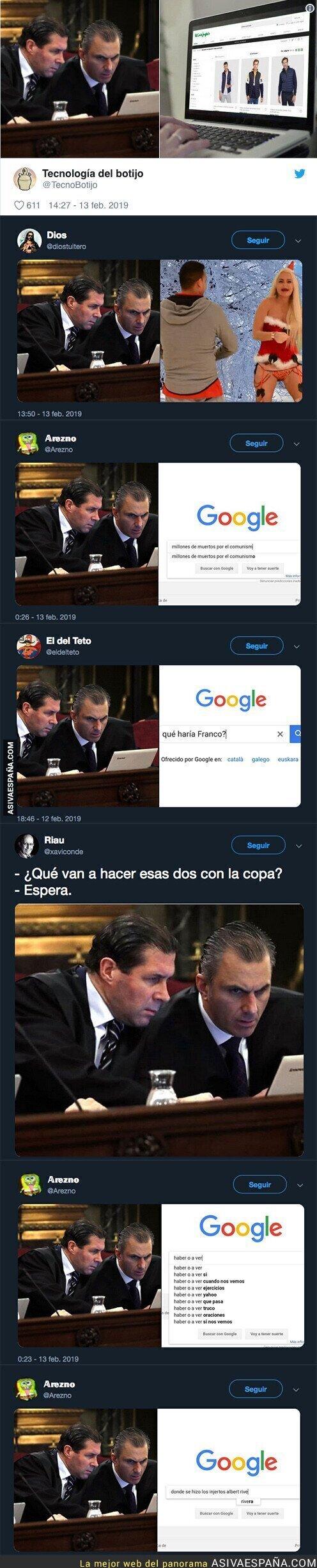 104666 - Los usuarios de Twitter desvelan que miraban los abogados de VOX durante el juicio a los presos políticos independentistas
