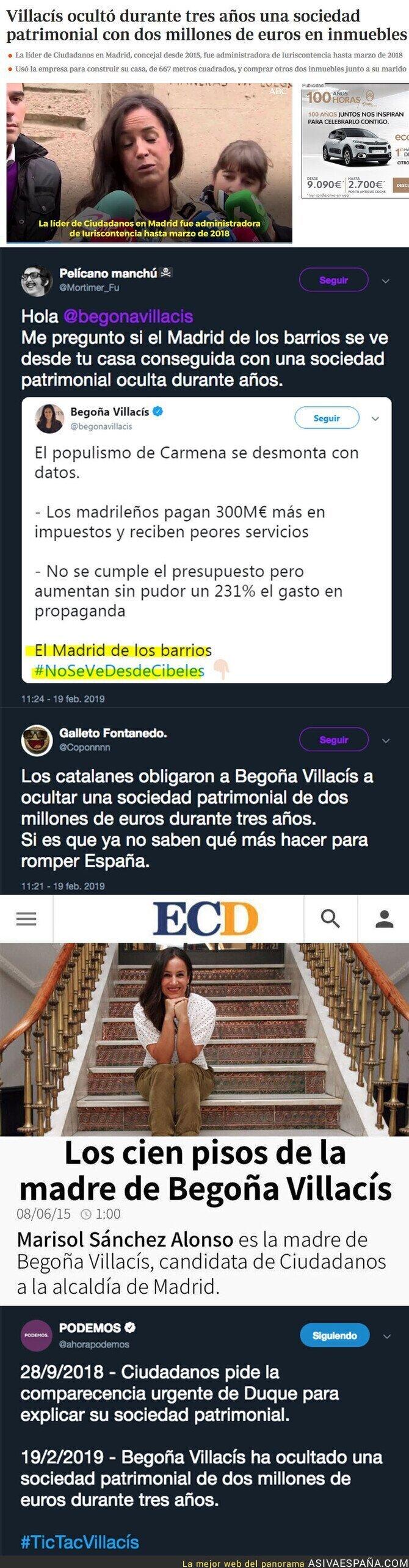 104837 - El gran escándalo de Begoña Villacís del que no te informará Antena 3 ni Telecinco sobre sus bienes de inmuebles