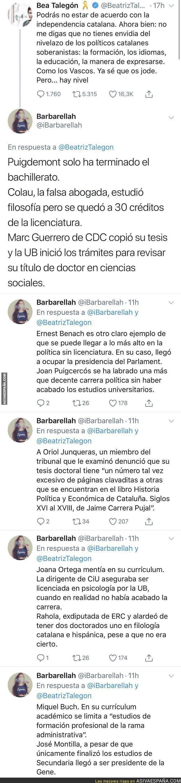 105041 - Las mentiras del currículum de los políticos independentistas catalanes