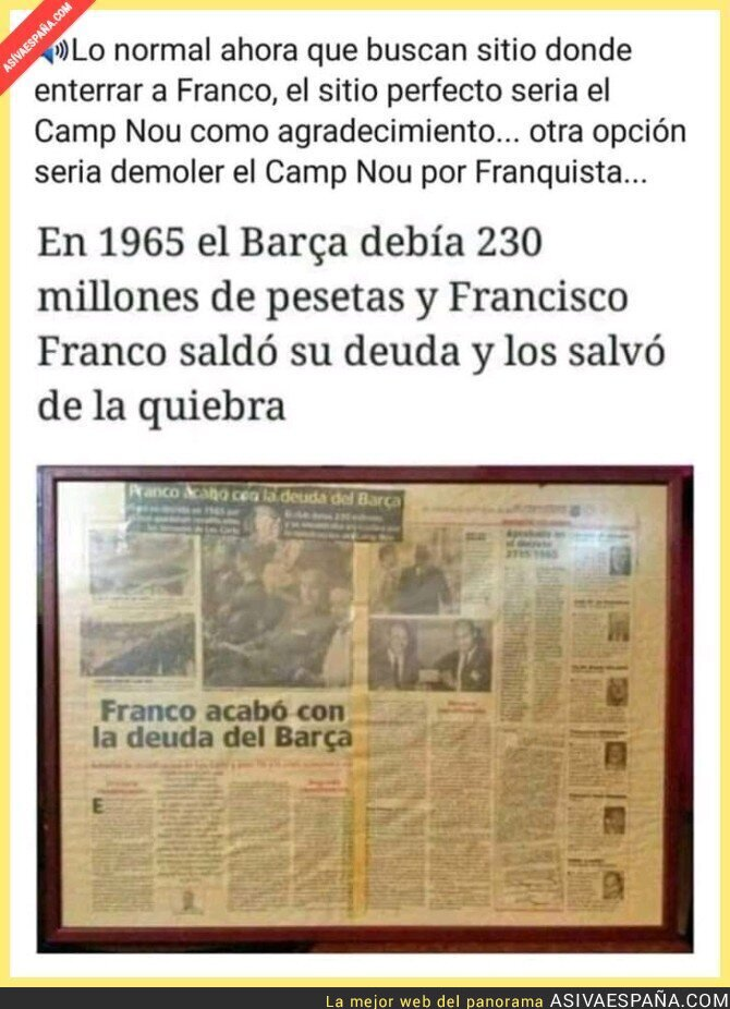 105048 - Aquella vez que Francisco Franco Bahamonde salvó de la quiebra al FC Barcelona