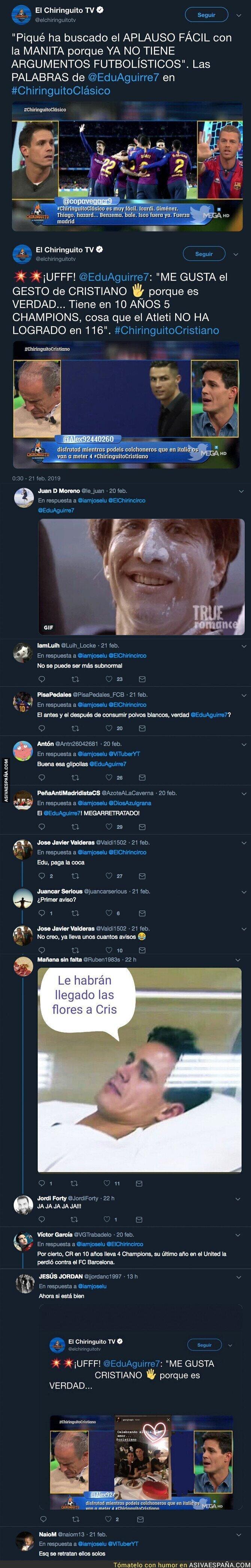 105120 - Este es el doble rasero de Edu Aguirre tras la manita de Cristiano Ronaldo a la afición del Atlético de Madrid