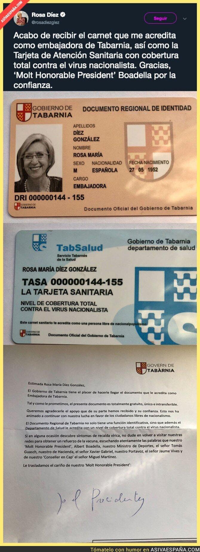 105320 - Los de Tabarnia siguen haciendo el ridículo regalándole esto a Rosa Díez