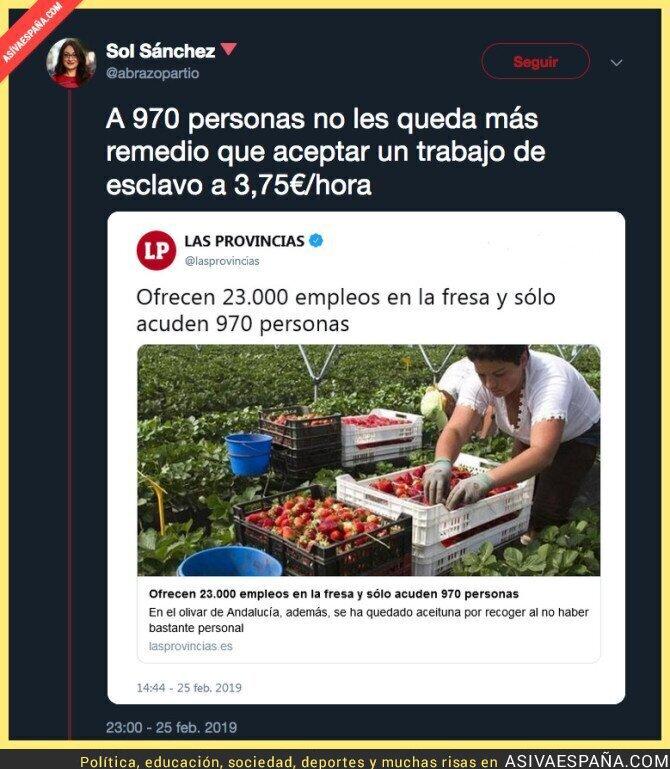 105334 - Los 23.000 puestos de trabajo ofrecidos en la fresa de Andalucía esconden un salario de esclavo