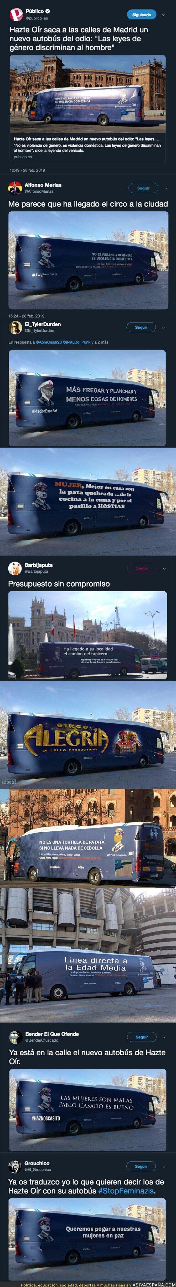 105545 - Los usuarios de Twitter chopean este autobús repugnante lleno de odio de los ultraderechistas de 'Hazte Oír y se ríen de ellos