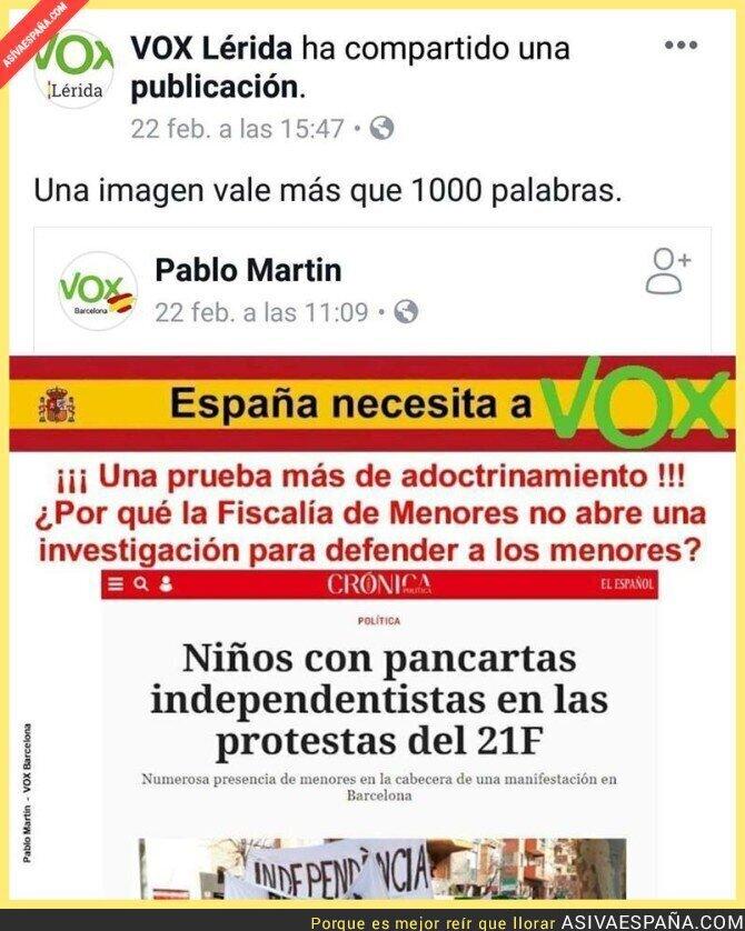 106065 - Esto decía Vox Lleida hace una semana, antes de que detuviesen a su presidente por abuso de menores discapacitados