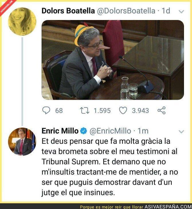 106079 - Le hacen un meme a Enric Millo y responde en tono amenazante
