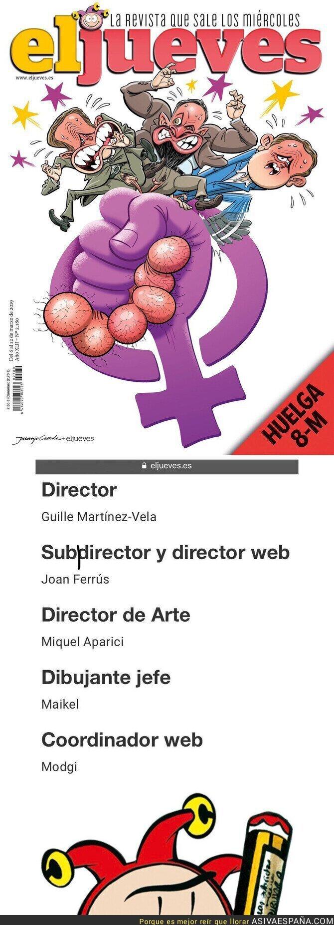 106165 - Portada muy feminista pero en la parte que manda de 'El Jueves'...
