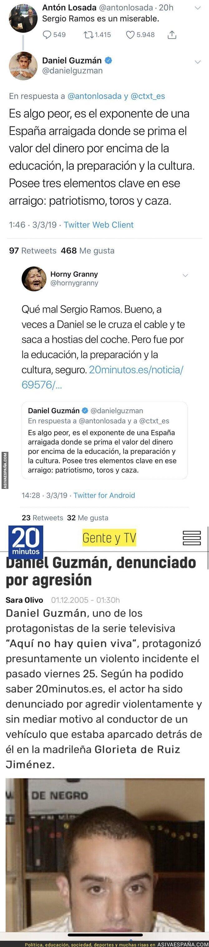 106173 - Daniel Guzmán, de 'Aquí no hay quien viva', llama más que miserable a Sergio Ramos y le dan un ZAS totalmente inesperado