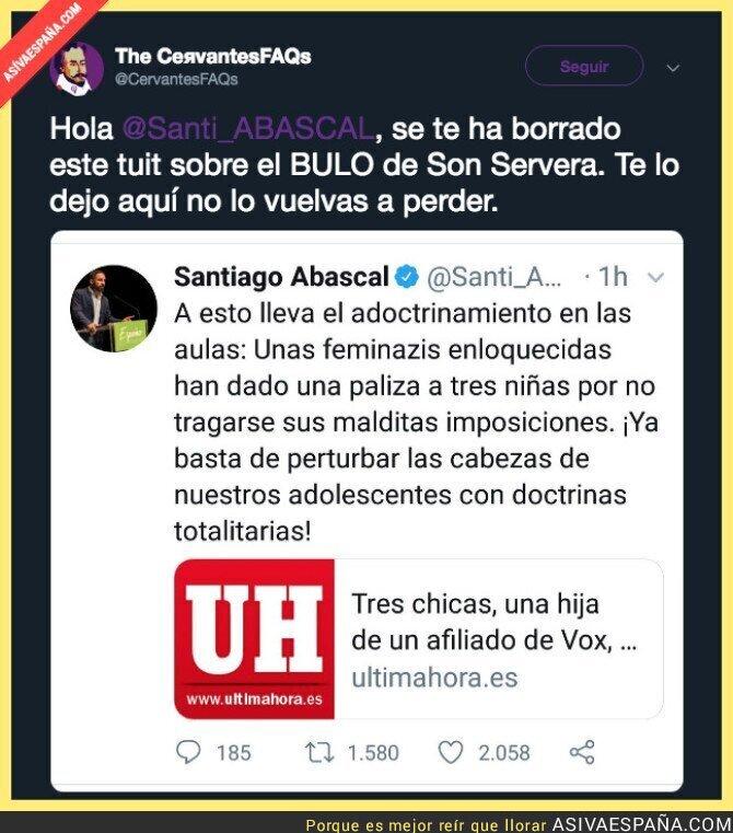 106369 - Esto es VOX y Santi Abascal difundiendo mentiras